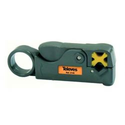 Coaxial cable stripper Televes
