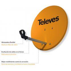 Televes ISD Offset dish 83cm Aluminum 39dBi Orange. Televes ISD 830 793101