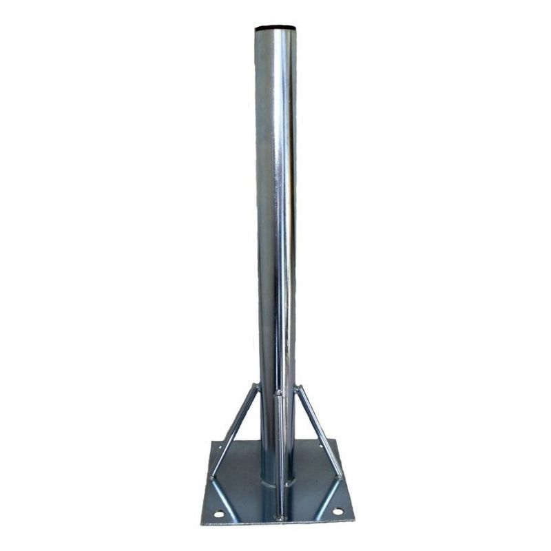 Floor support with fixed column 50x1,5x750 mm and plate 250x250x4 mm AMP019A