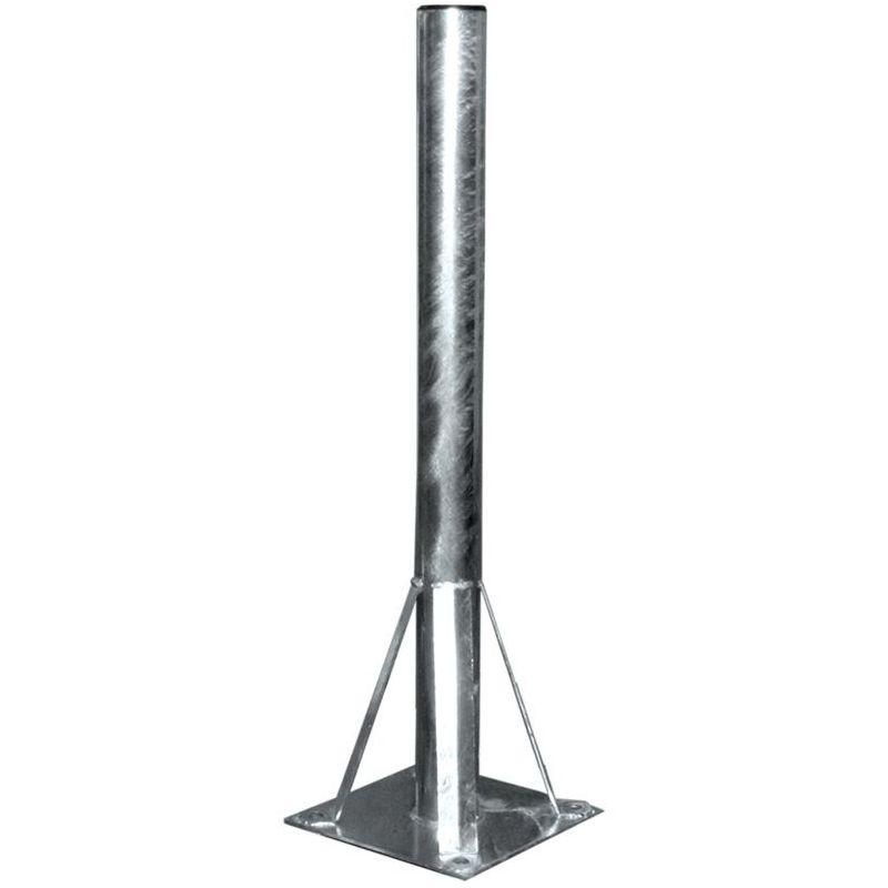 Soporte parabola Suelo 60x855mm con placa de 250x250mm