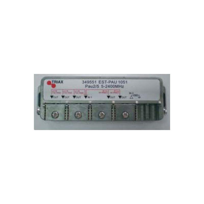 Distribuidor PAU serie EST (Clema fácil) 2 entradas/5 salidas
