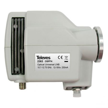"Optical LNB 1310nm FC/PC"" G 72dB without feed Televes"