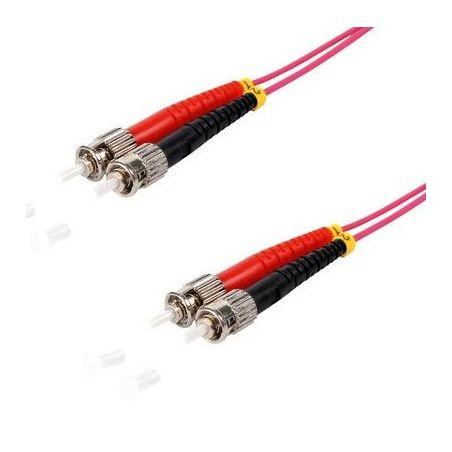 Fiber optic patch cable ST/ST Duplex 10m Violet, 50/125μ Multimode OM4