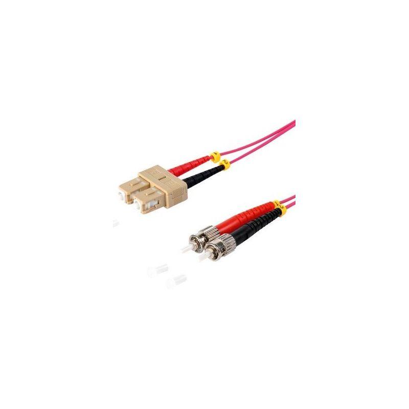Fiber optic patch cable SC/ST Duplex 3m Violet, 50/125μ Multimode OM4