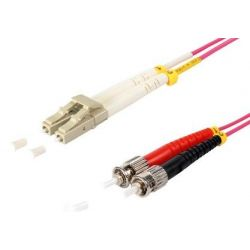 Fiber optic patch cable LC/ST Duplex 10m Violet, 50/125μ Multimode OM4