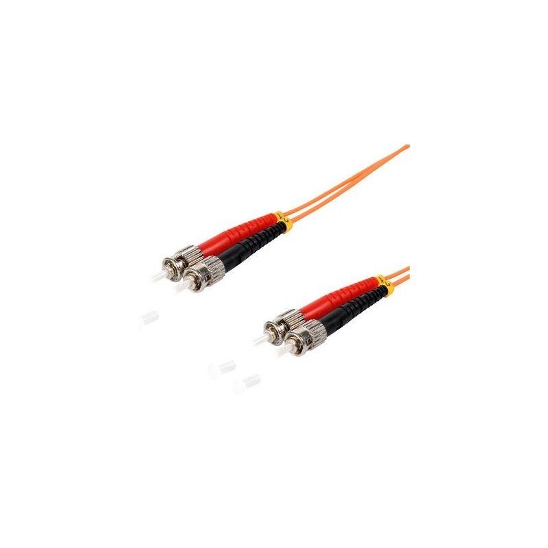 Fiber optic patch cable ST/ST Duplex 1m Orange, 50/125μ Multimode OM2