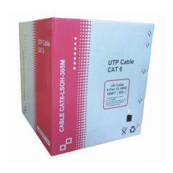 Bobine de câble de réseau Cat 6 UTP LSZH 305m blanc