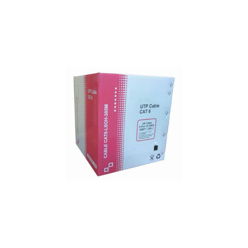 Bobina de cable de red Cat 6 UTP LSZH 305m blanco
