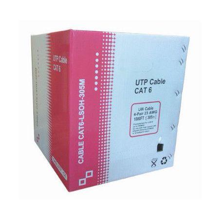 Bobina do cabo de rede Cat 6 UTP LSZH 305m branco