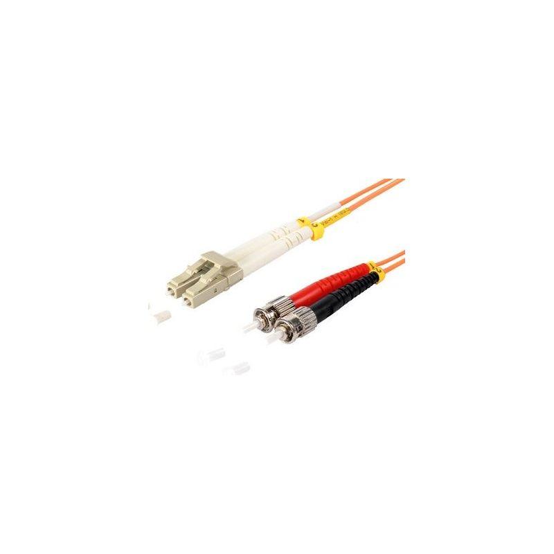 Fiber optic patch cable SC/ST Duplex 3m Orange, 50/125μ Multimode OM2