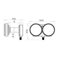 LNB Inverto Single Monoblock 23mm, 6° para antenas de 80cm