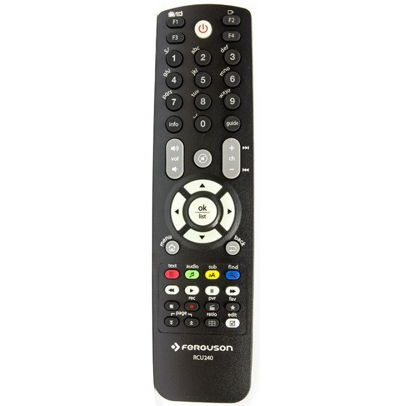 Ferguson RCU-240 Remote control for Ariva DVB-T/T2 receivers