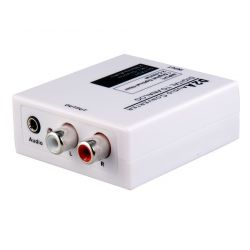Conversor de audio digital Óptico Toslink (S/PDIF) o RCA en analógico 2xRCA o Jack 3.5mm