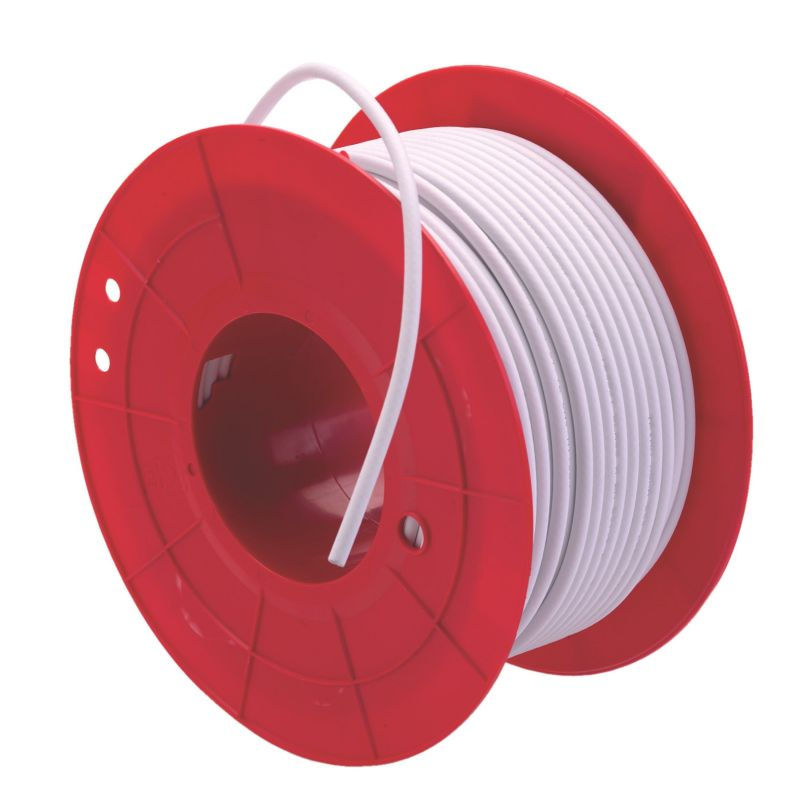 Cable coaxial RG6 triax koka blanco interior bobina de 100 metros