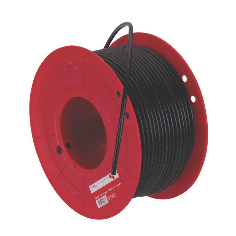 Triax KOKA 17 VAtC Bobine de câble coaxial RG6 extérieur 100m noir. Triax 198017-101