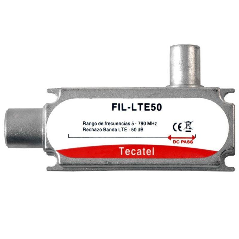 Filtre LTE/4G, atténuation 50dB à C60 Tecatel FIL-LTE50