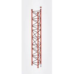 Section intermédiaire renforcée 3m pylône 450 couleur rouge Televes