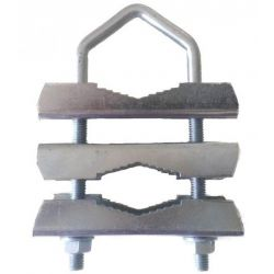 Abraçadeira com três flanges. Métrico 8x290mm. AMP015D