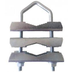 Horquilla con triple brida de métrica 8x290 mm. AMP015D