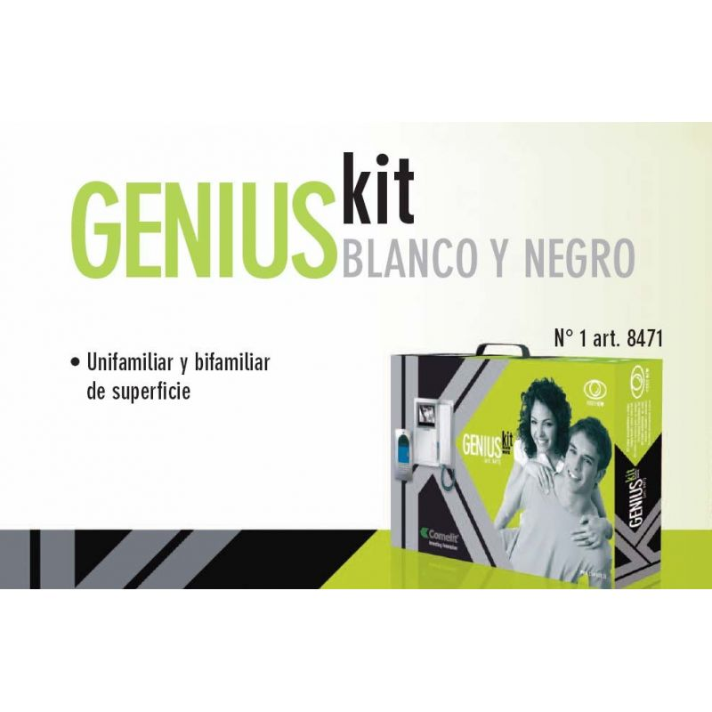 Kit Video portero Blanco y negro Comelit Unifamiliar y bifamiliar de superficie
