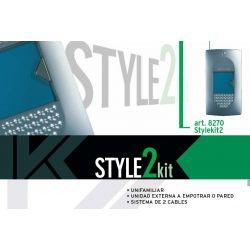 Kit portero telefonillo idealkit2 con teléfono interior STYLE y placa exterior empotrable o de superficie