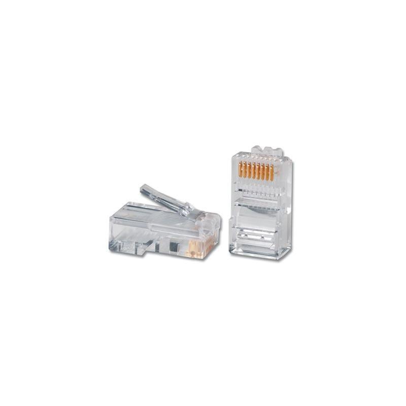 Conector RJ45 UTP 8 contactos para crimpar