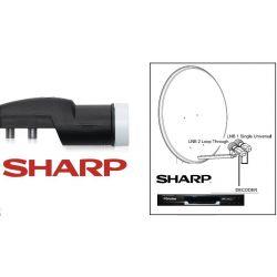 Sharp 0.2 dB 1 salida LNB universal single con conmutacion Diseqc