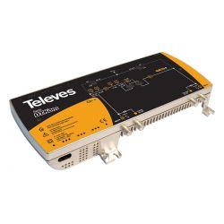 Central amplificadora DTKom Power Doubling 2 FI + MATV G.47/42 dB, Vs 123/120 dBμV Televes