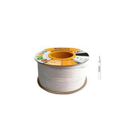 Cable coaxial Televes CU CXT Blanco PVC. (19 dB / 30 dB x 100m) 100 metros