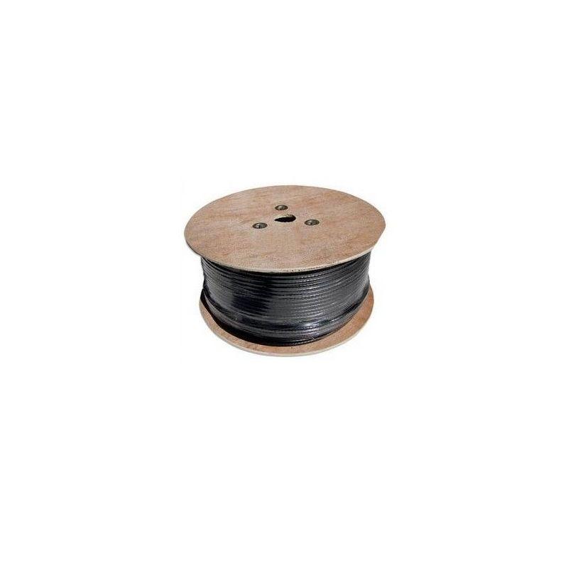 Cable coaxial RG11 cobre negro bobina 500 metros