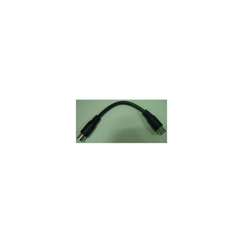 "Cordon coaxial flexible ""9,52"" Mâle-Femelle 0,1m - Blister Televes"
