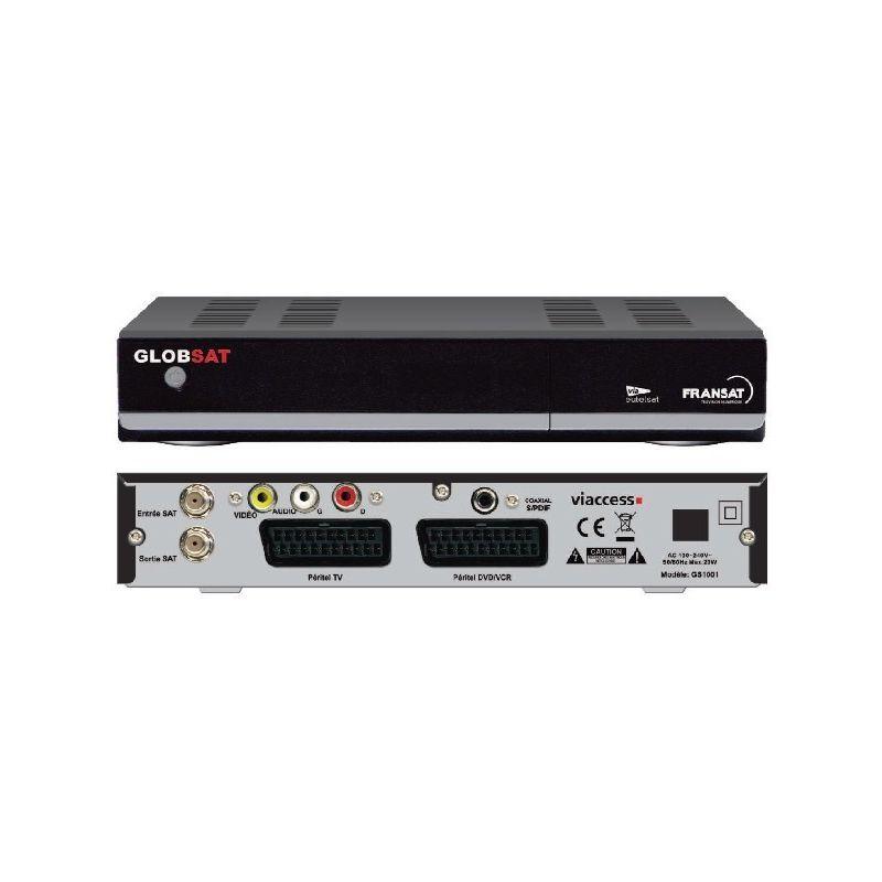 Receptor satelite GlobSat GS1001 TNT Fransat Sin Cuota