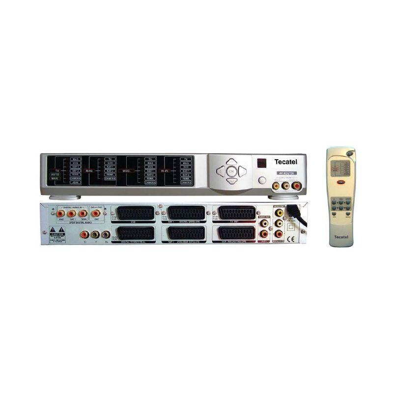 Conmutador Enrutador de Audio / Video 6 Euroconectores