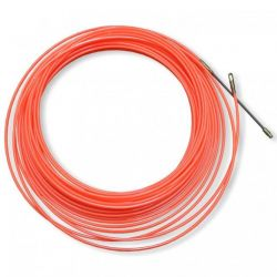 Guía pasacables Nylon 4mm Naranja 20m