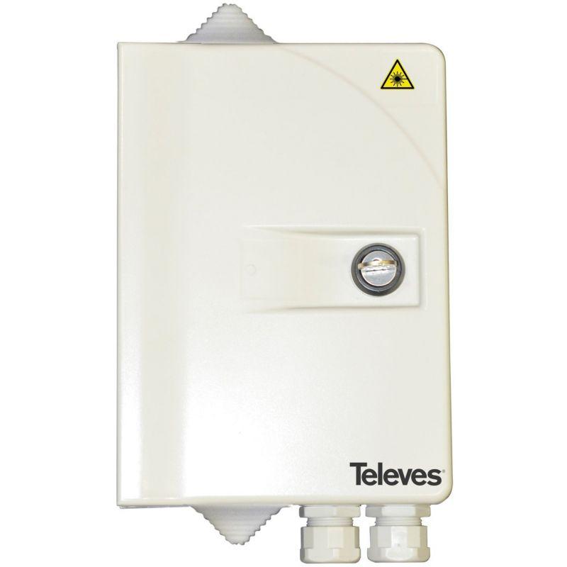 Registre fibre optique secondaire compact jusqu'à 16 fibres Televes