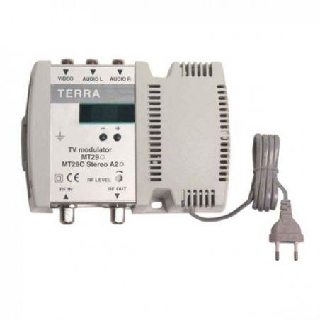 Modulador Terra DBL VHF/UHF 100dBuV Estereo Display Tecatel