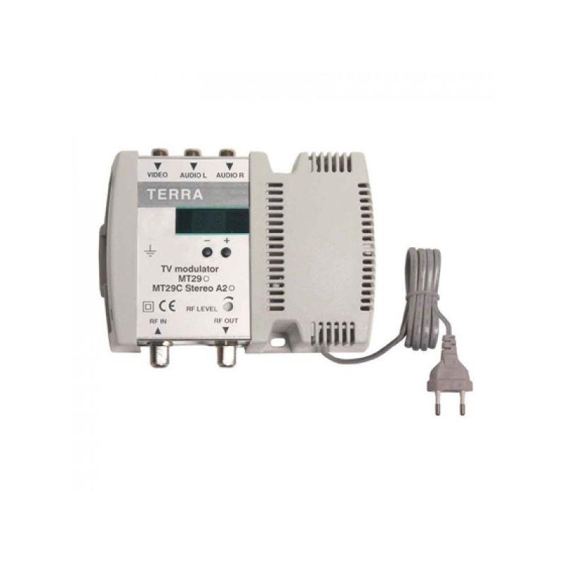 Modulador Terra DBL VHF/UHF 100dBuV Display Tecatel