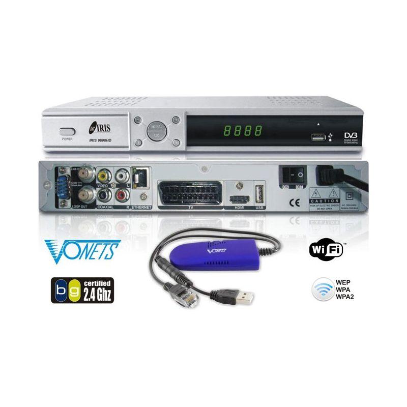 Receptor Satelite IRIS 9808 HD WIFI 1080 PVR NET Envio Gratis