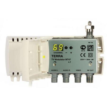 Modulador Terra DBL VHF/UHF 85dBuV Display Tecatel