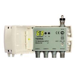 Modulador Terra DBL VHF/UHF 85dBuV Estereo Display Tecatel Envio gratis