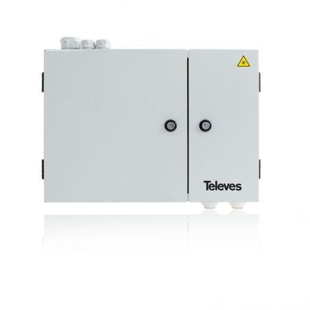 Coffret principal pour fibre optique 48 connecteurs Televes