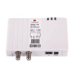 Adaptador Ethernet sobre coaxial. Triax TEOC 110