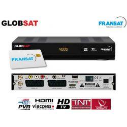Receptor satelite GlobSat GS2000 HD TNT Fransat Gratuito