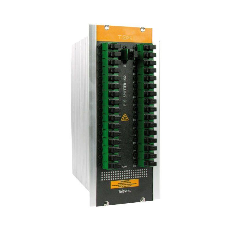 Séparateur optique T.0X SC/APC 32 sorties 1260-1650nm 17dB Televes