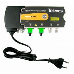 Transmetteur/multiplexeur optique 1550nm SC/APC 1310/1490nm Televes