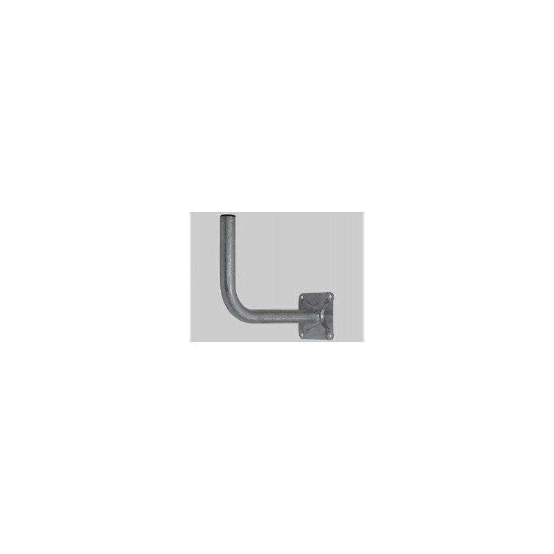 Soporte parabola Pared 40x2x600mm con placa de 150x150x4mm